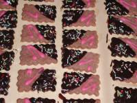 Dunkle Mürbeteig Kekse