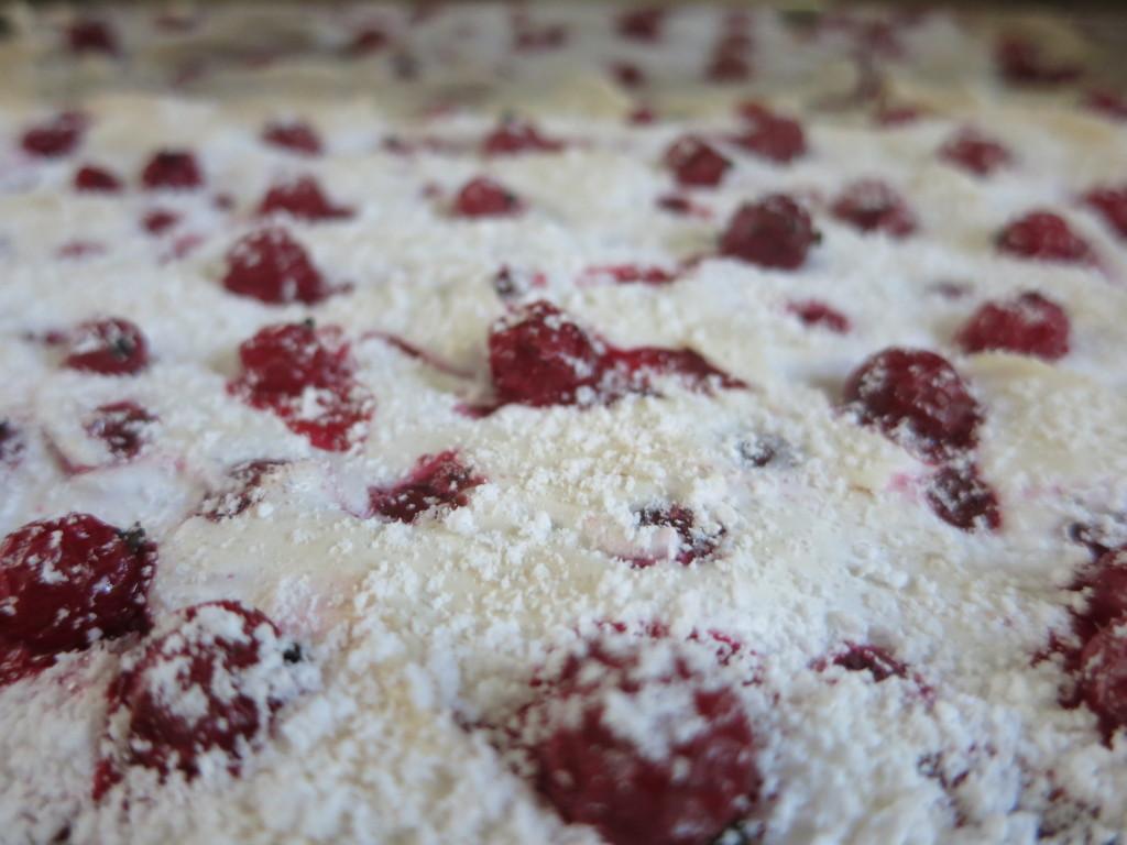 Ribiselkuchen mit Schneehaube